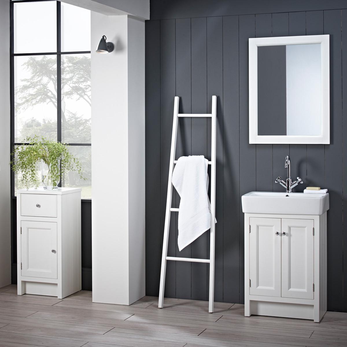 roper rhodes hampton chalk white 550mm countertop vanity unit with basin ham550b w ham560c. Black Bedroom Furniture Sets. Home Design Ideas