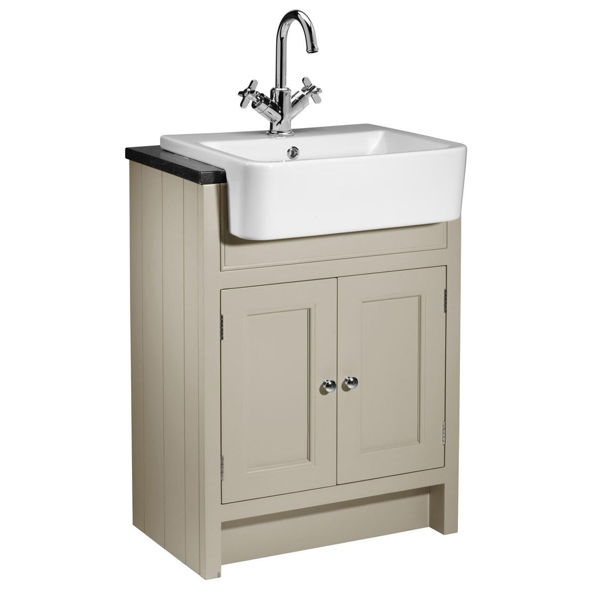 ... Rhodes Hampton Mocha 600mm Semi Countertop Vanity Unit with Basin