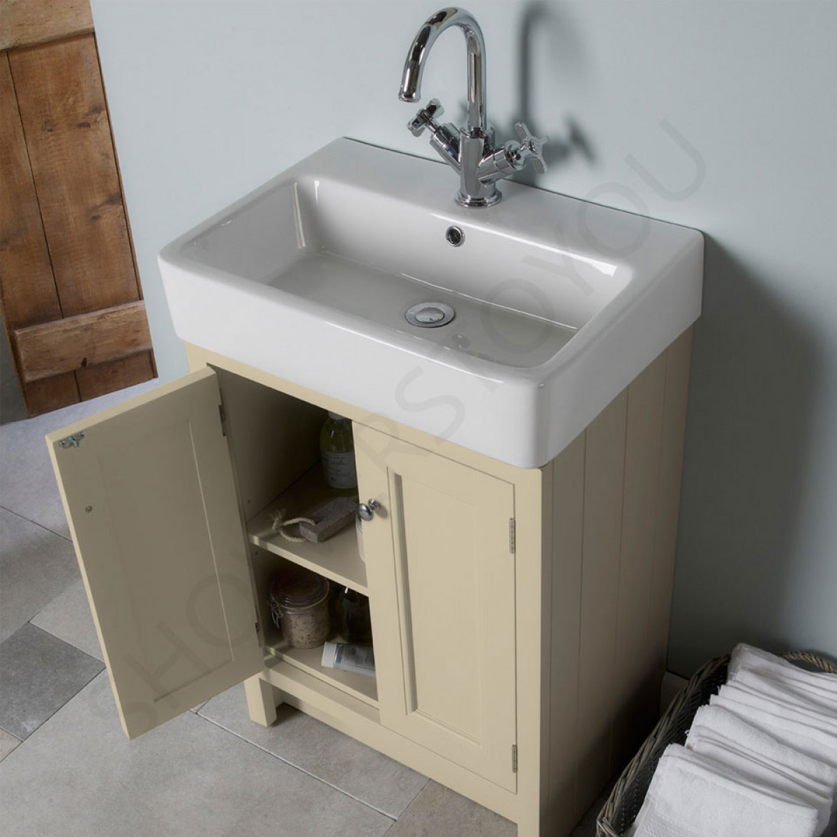 roper rhodes hampton pewter 530mm countertop vanity unit with basin