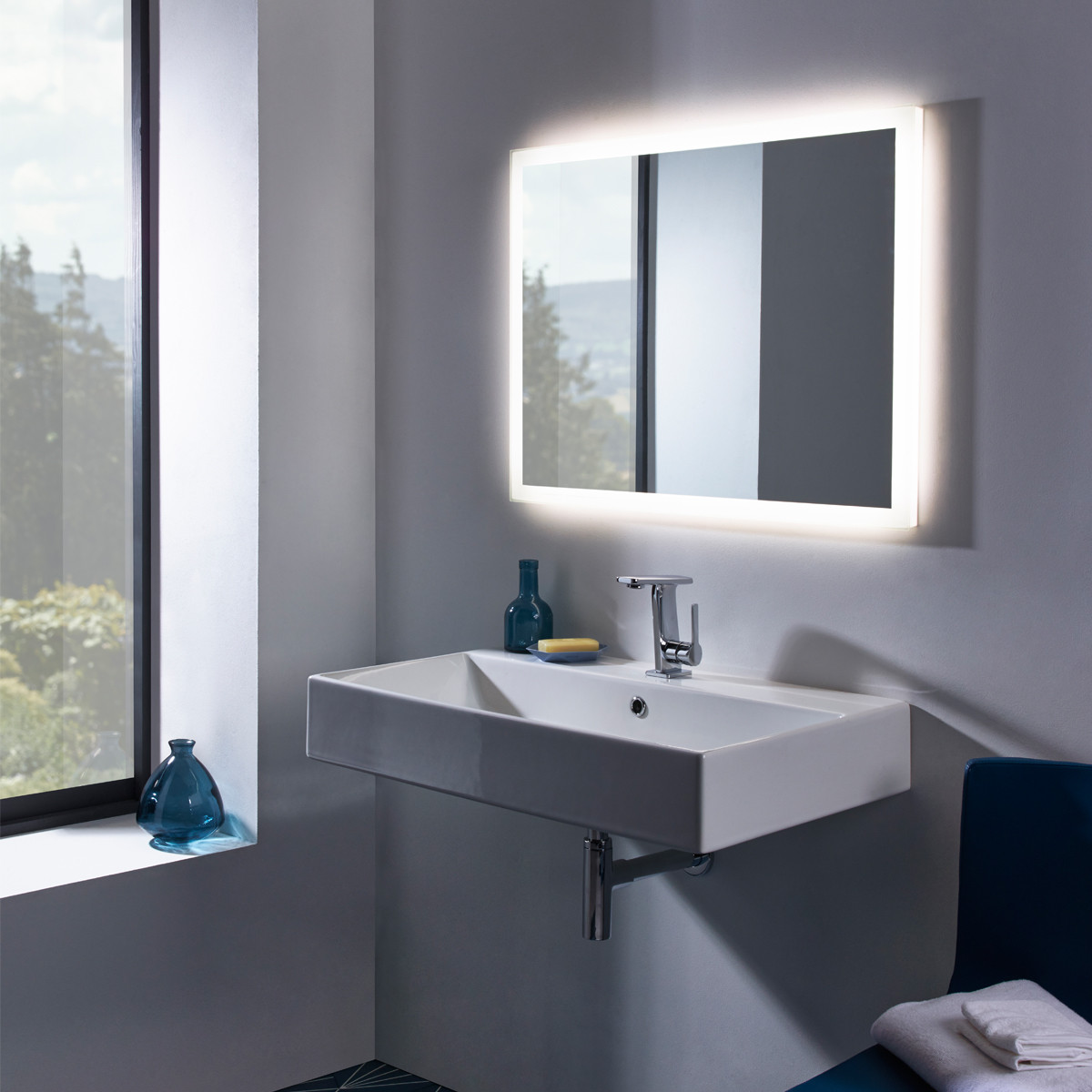 roper rhodes bathroom mirrors roper led illuminated mirror 20226