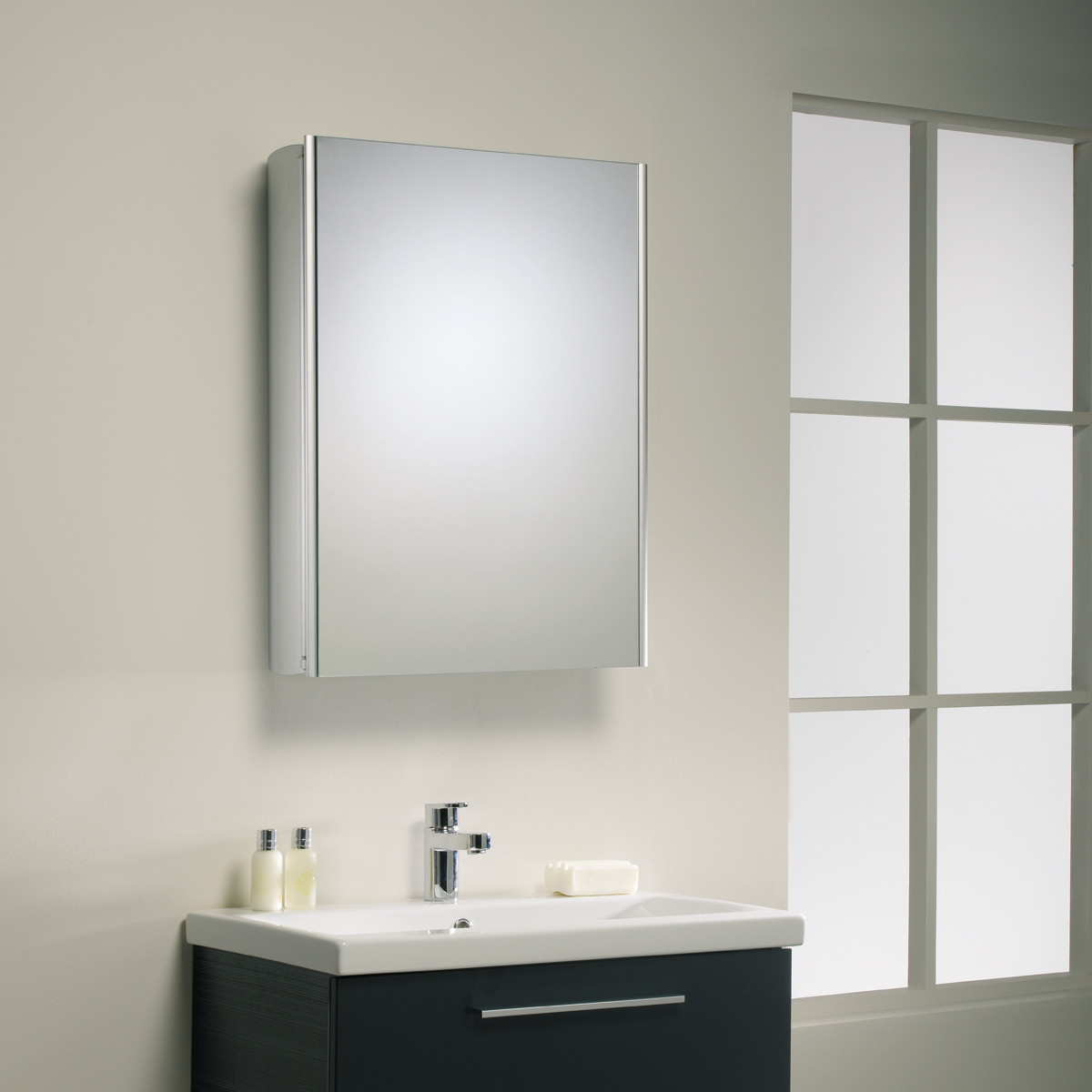 Roper Rhodes Limit Bathroom Cabinet Aluminium Finish