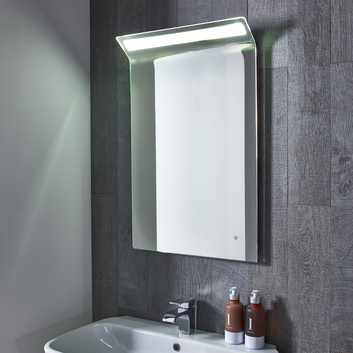 illuminated bathroom mirrors uk roper renew led illuminated mirror mle490 18863