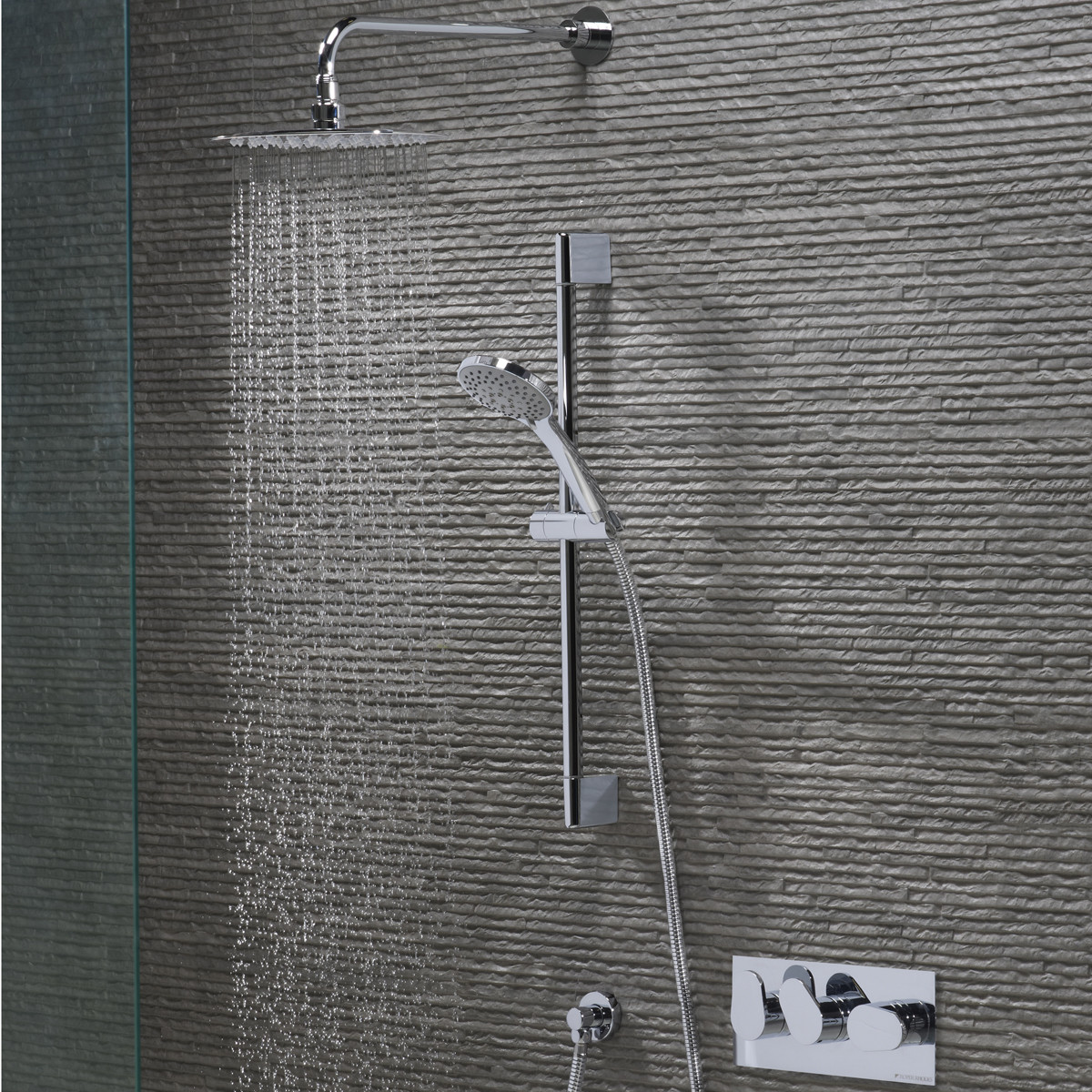 Roper Rhodes Stream Dual Function Shower System with Fixed Shower ...
