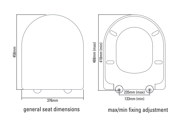 Roper Rhodes Define Toilet Seat With Soft Close Hinges