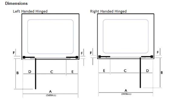 Kudos Infinite 900mm Straight Hinged Door Enclosure 4HD90