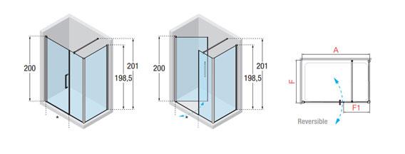 Novellini Young 570 610mm Folding Shower Door Y21bs571k
