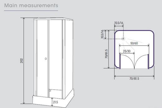 This Kinedo Constort Shower Pod, Part Number CA16GB Is Suitable For Use  With All Types Of Showers And Features Inward Saloon Doors That Take Up  Less Space ...
